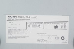 SONY DSC-1024HD DIGITAL SCAN CONVERTER