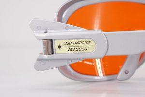 YAMAMOTO EXCIMERエキシマ YL-270 レーザー光完全吸収メガネ ケース クリーナー付